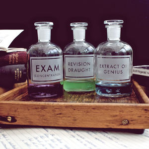 Etched Apothecary Bottle 2nd Release - storage & organisers