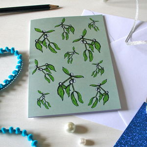 Mistletoe Christmas Card - cards