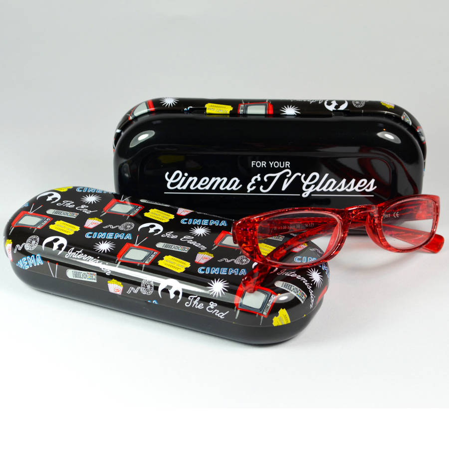 Cinema And Tv Glasses Case Retro Style