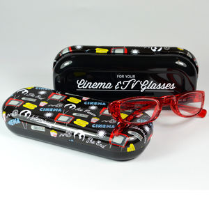 Cinema And Tv Glasses Case Retro Style - glasses cases