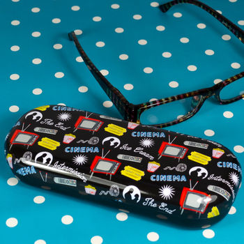 quirky retro design glasses case cinema and TV gift for dad grandad from Not On The High Street