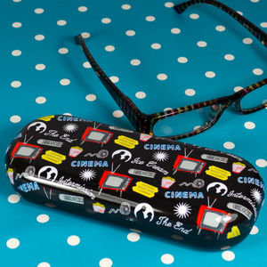 Retro Design Cinema & TV Glasses Case - glasses cases