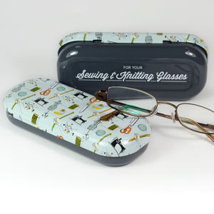 Sewing & Knitting Glasses Case - glasses cases