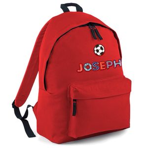 Personalised Childrens Backpack Football