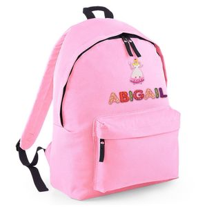 Personalised Childrens Powder Pink Backpack Princess - backpacks