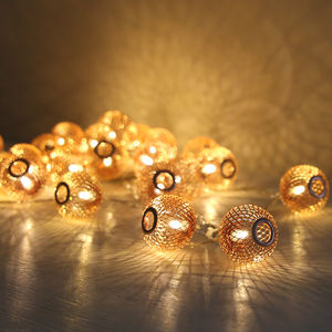 Copper Sphere Light Garland - fairy lights & string lights