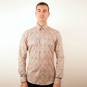 Abstract Art Print Shirt - men's fashion