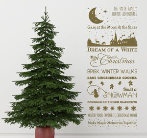 Personalised Winter Wish List Wall Sticker - kitchen