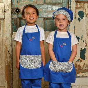 Child's Monkey Print Apron - children's cooking