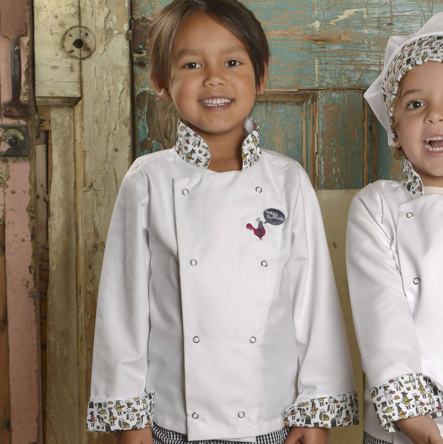 Child's Woodland Print Chef Jacket