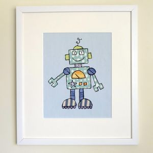 Robot Children's Personalised Print