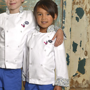 Child's Monkey Print Chef Jacket - children's cooking