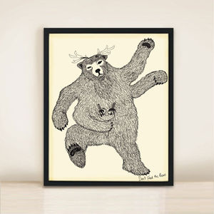 'Who Fed Him?' A3 Bear Print