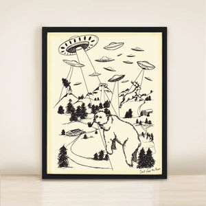 Bear Abduction A3 Print - art & pictures