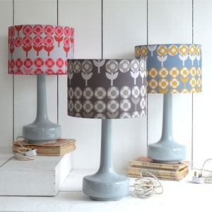 Bell Bottom Table Lamp With Verdure Shade