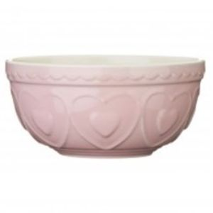 Stoneware Heart Personalised Mixing Bowl Three Colours - baking