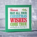 Personalised Christmas Wishes Card
