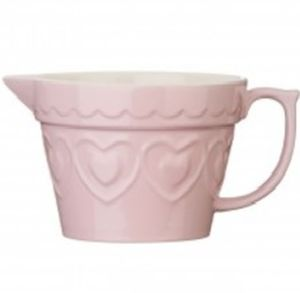Pale Pink Heart Ceramic Jug