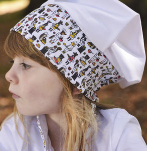 Child's Woodland Print Chef Hat