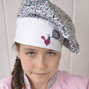 Child's Baking Print Chef Hat