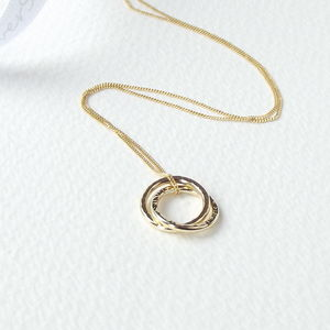 Solid 9ct Gold Interlinked Circle Of Life Necklace - necklaces & pendants