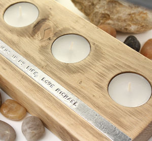 Reclaimed Timber Personalised Tealight Holder