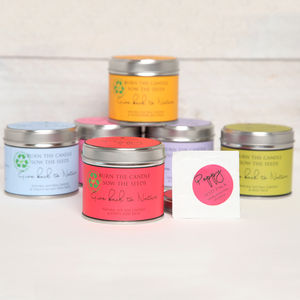Tin Candle And Flower Seed Gifts - candles & candlesticks