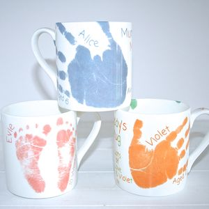 Child's Hand Or Footprint Mug - keepsakes