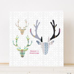 Christmas Antlers Greetings Card