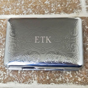 Personalised Cigarette Case With Engraved Initials