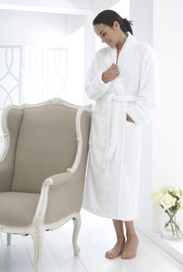 Verona Organic Cotton Towelling Bath Robe - bath robes