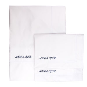 Personalised 600 Tc Cotton Sateen Bed Linen