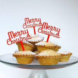 Merry Christmas Food And Cake Decoration - view all sale items