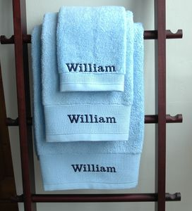 Personalised Organic Cotton Luxury Towels - towels & bath mats