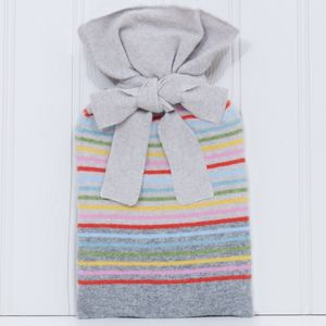 Calvi Knitted Lambswool Tie Top Hot Water Bottle