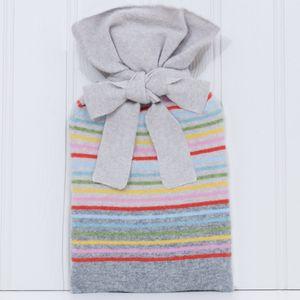 Calvi Knitted Lambswool Tie Top Hot Water Bottle