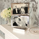 Rotating Silver Multi Aperture Picture Frame