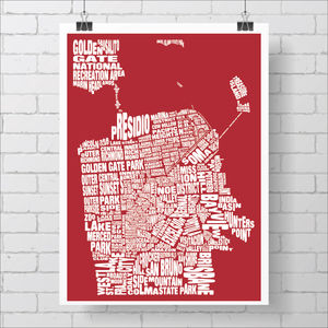 San Francisco Typography Map