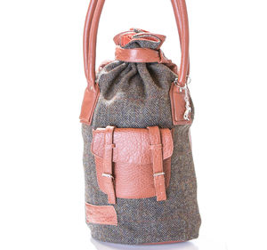 Diana Leather And Tweed Holdall - bags & purses