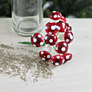 Set Of 12 Mini Toadstools - cake decoration