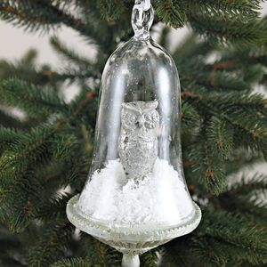 Hanging Glass Dome With Owl - view all decorations