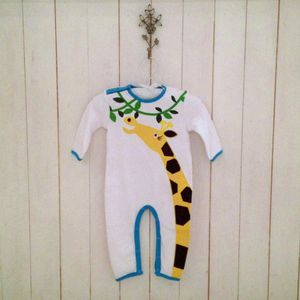 Giraffe Applique Jumpsuit And Bib - new baby gifts