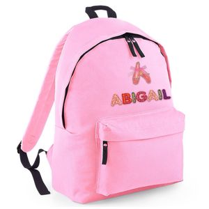 Personalised Childrens Powder Pink Rucksack Ballet