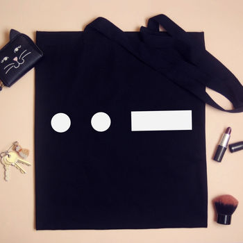 Personalised Initial Morse Code Tote Bag