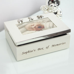 Personalised Baby Keepsake Box - children's room accessories