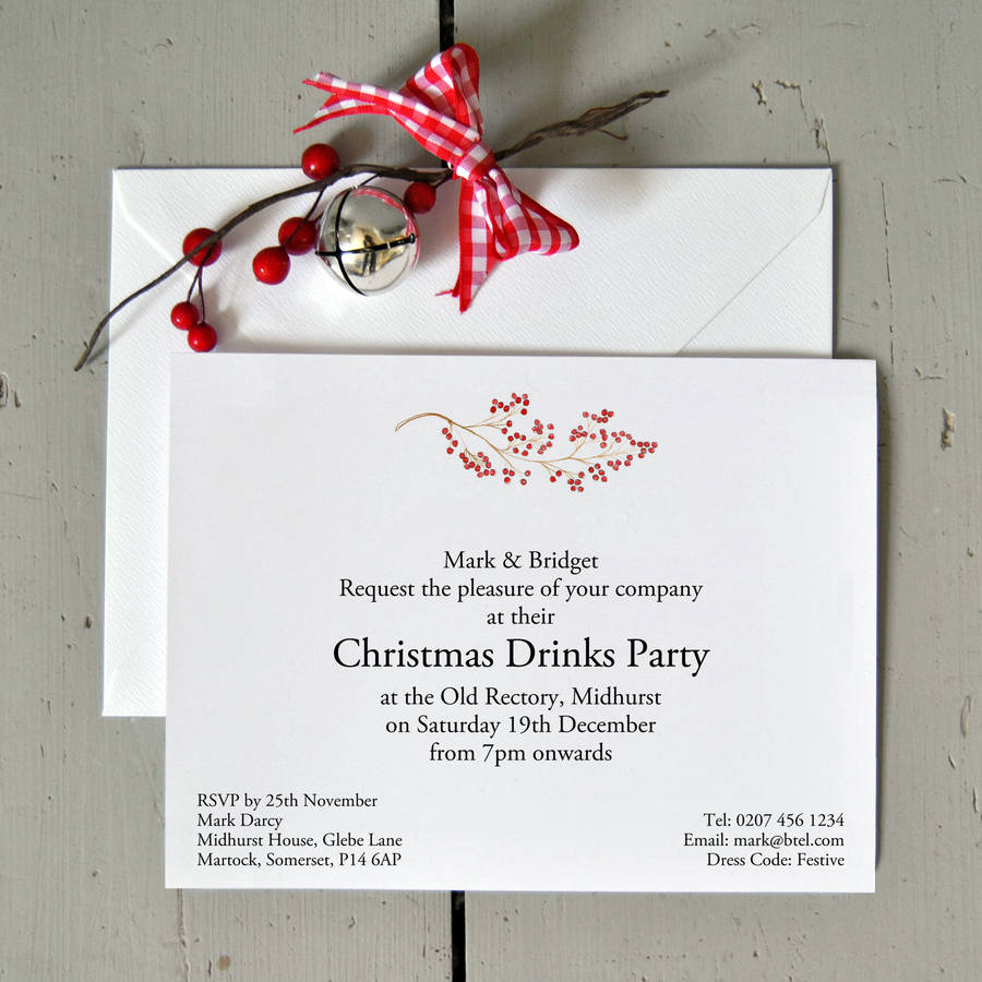 Christmas party invitations notonthehighstreet personalised christmas party invitations invitations stopboris Gallery
