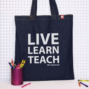 Personalised Teacher's Tote Bags - last-minute gifts for teachers