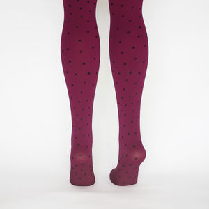 Hand Printed Spotty Tights