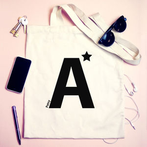 Personalised 'A Star' Teachers Tote Bag - shoulder bags