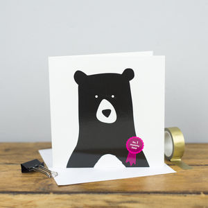 No.One Mummy Bear Card - mother's day cards